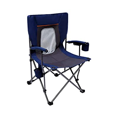 PORTAL Camping Chair Folding Portable Quad Mesh Back