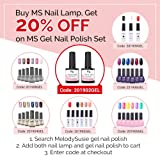 MelodySusie LED UV Nail Lamp- 48W Nail Dryer for