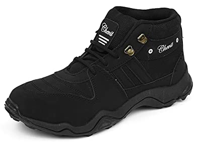 c07a45936d0 Chevit Men's 416 Black Tracking Casual Running Shoes (Joggers & Sports Shoes)  ...