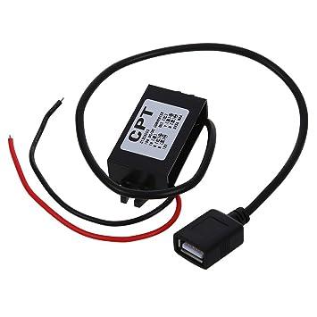 Amazon.com: SODIAL (R) Cargador de coche convertidor 12 V a ...