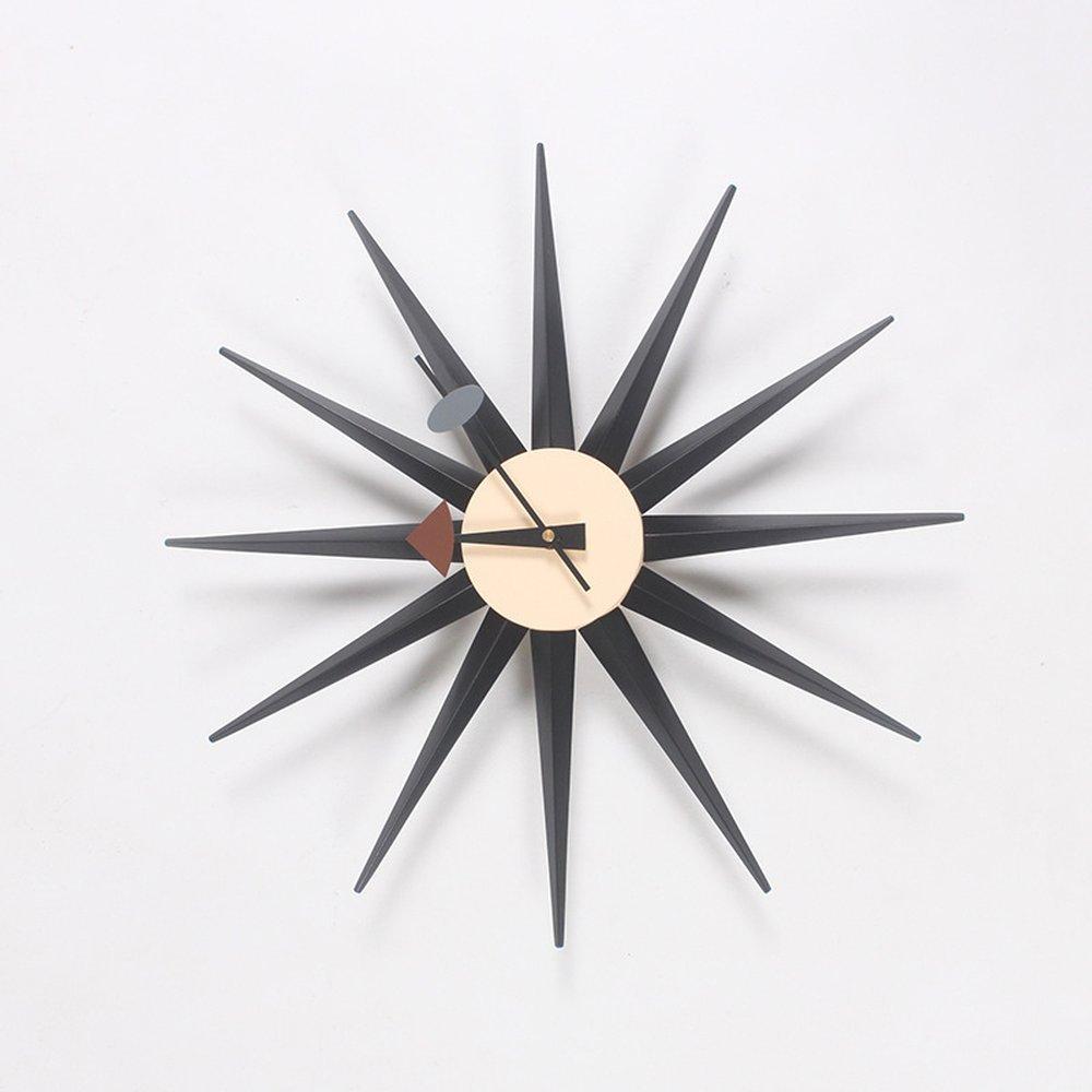 PULAMA 木職人の作り 木製 壁掛け時計 電波時計 オリジナルデザイン B07D8T6798 Black Black