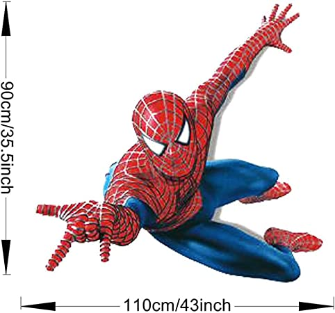 Winhappyhome Cartoon Spider Man Kids Wall Stickers For Bedroom Living Room Background Removable Mural Drawings Home Decor Decals Küche Haushalt