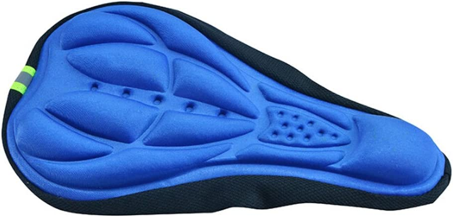 VORCOOL Comfy Cycling Bicycle Gel Pad Seat Saddle Cover 3D Soft Cushion (Blue)