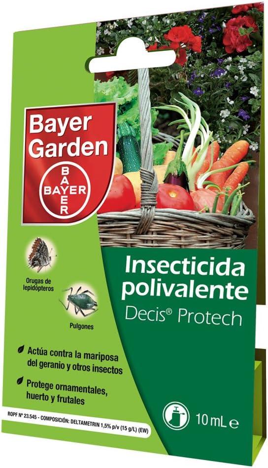 Protect Garden Decis Protech - Insecticida polivalente concentrado para ornamentales, frutales y horticolas, pulgones y orugas, 10ml