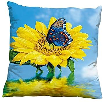 Amazon.com: Mariposa 3d estampada de girasol tirar funda de ...
