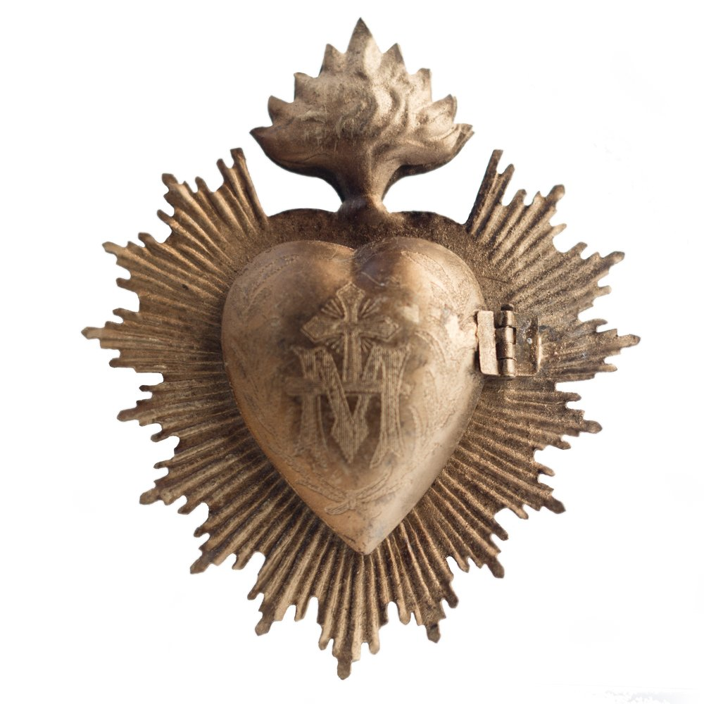 Sacred Heart Gold Milagro Box - Come discover 15 Eclectic Holiday Gifts Under $25 plus Holiday Gift Guides from 7 of Your Favorite Bloggers!