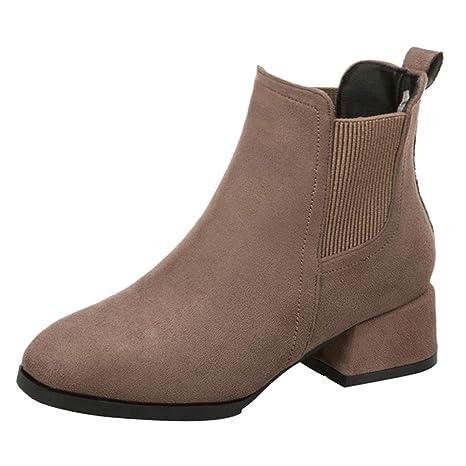 Botas para Mujer Moda Invierno ZARLLE Zapatos de Nieve cálida Invierno Zapatos de tacón Zapatos Botines