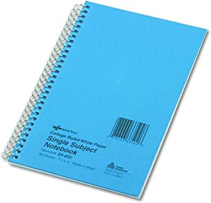 """NATIONAL Subject Wirebound Notebook, College Rule, 8"""" x 5"""", 80 Sheets/Pad (33502)"""