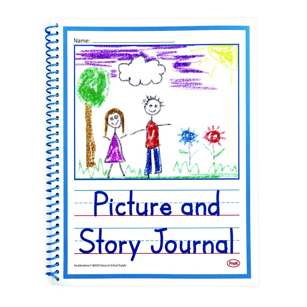 Excellerations PREKJRNL Beginner's Story Journals (Pack of 10) by Excellerations