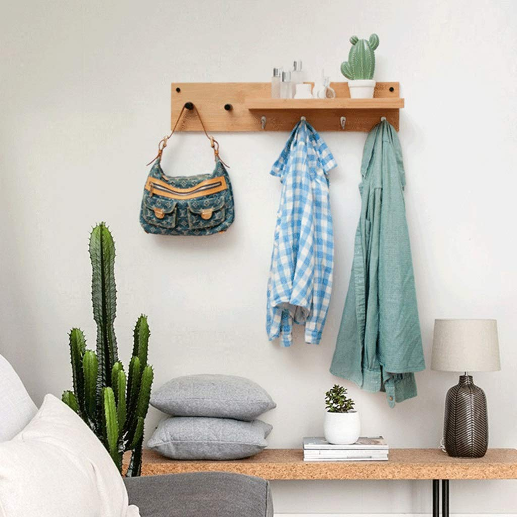 ZYN Wall Mount Shelf Bedroom Hook up Hangers Coat Rack Living Room Entrance Simple One Word Storage Rack by ZYN (Image #3)
