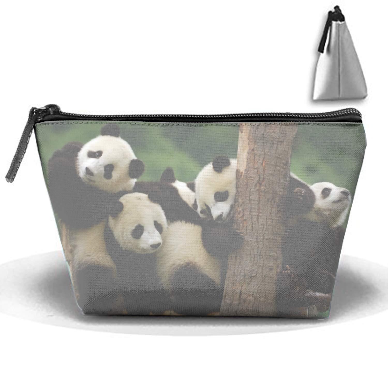 jiajufushi ペインティング 2か所 クール 猫 旅行 コスメティックバッグ ポータブルメイクアップポーチ 台形物整理バッグ onesize 2586765_js_23 B07H2646H9 Baby Panda Bear5
