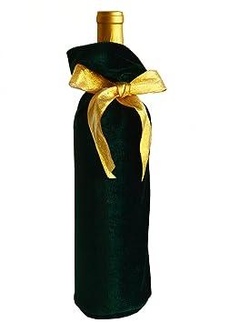 Hecho en bolsas de vino de terciopelo verde esmeralda, azul ...