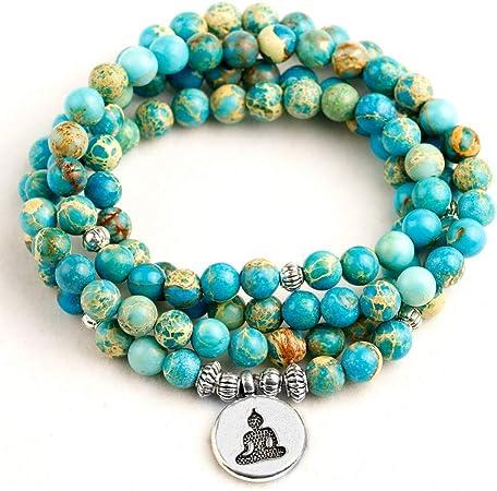 bracelet femme pierre bleu