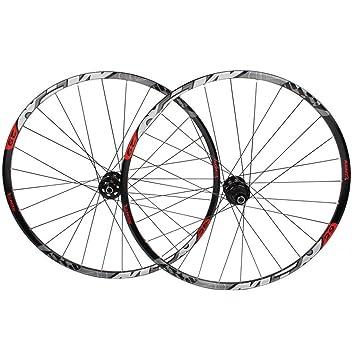 ZNND Montaña Juego De Ruedas De Bicicleta, 29 Pulgadas Pared Doble MTB Borde Lanzamiento Rápido Freno De Disco Híbrido Bicicleta Disco De Agujero 7 8 9 10 Velocidad (Color : B, Size :