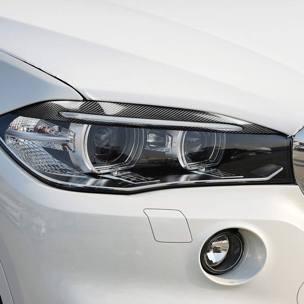 Minzhi Tman 1pair Auto-Dekor-Carbon-Faser-Scheinwerferblenden Eyelids Aufkleber Ersatz f/¨/¹r BMW X5 F15 2014-2017