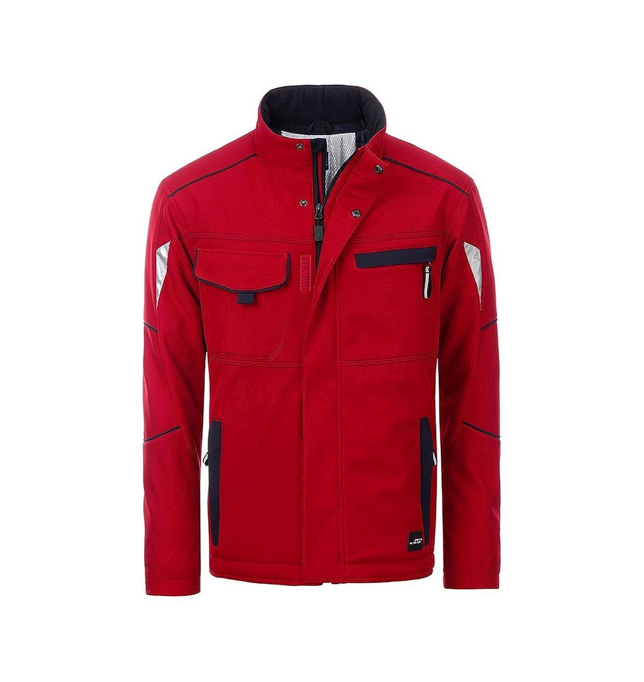 rouge Navy 5XL Veste Softshell Fonctionnelle avec Doubleure Chaude