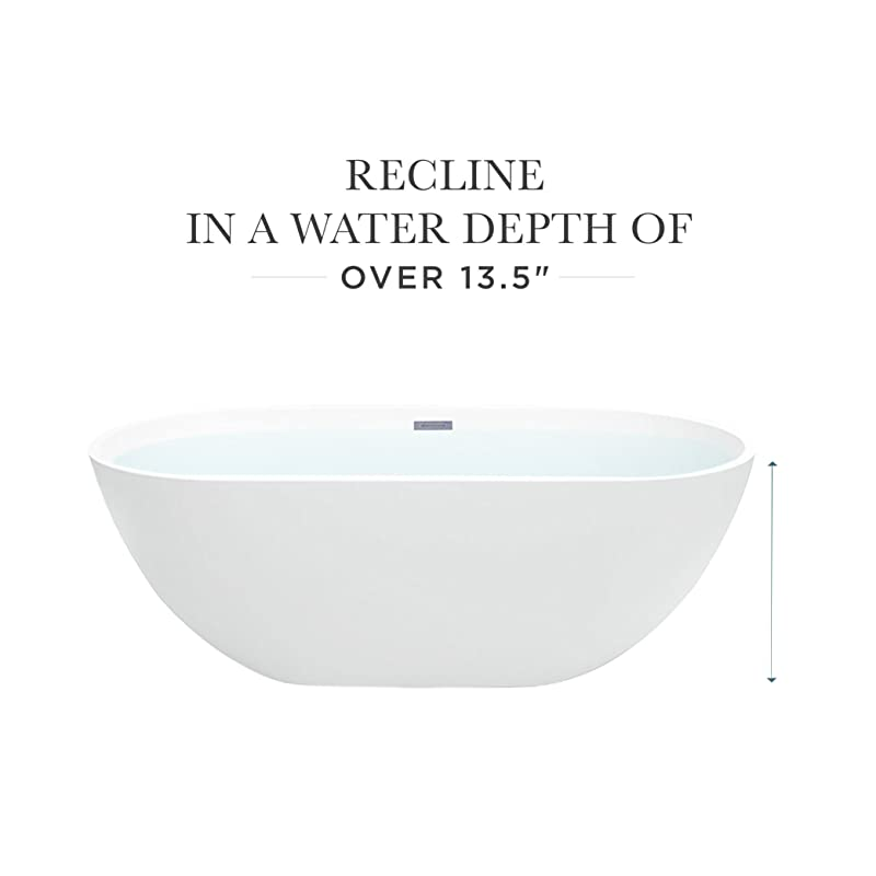 MAYKKE Barnet Soaker Tub for Bathroom