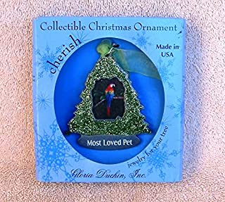 product image for Gloria Duchin Pewter Most Loved Pet Christmas Tree Photo Ornament