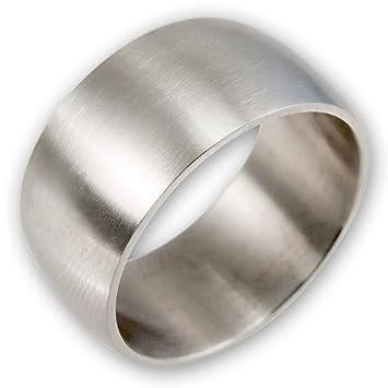 Partnerringe silber matt schlicht  Fly Style® Breiter Band-Ring Edelstahl - breite Ringe für Damen ...