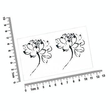 Set Of 5 Chinese Style Lotus Flower Body Tattoo Stickers Waterproof