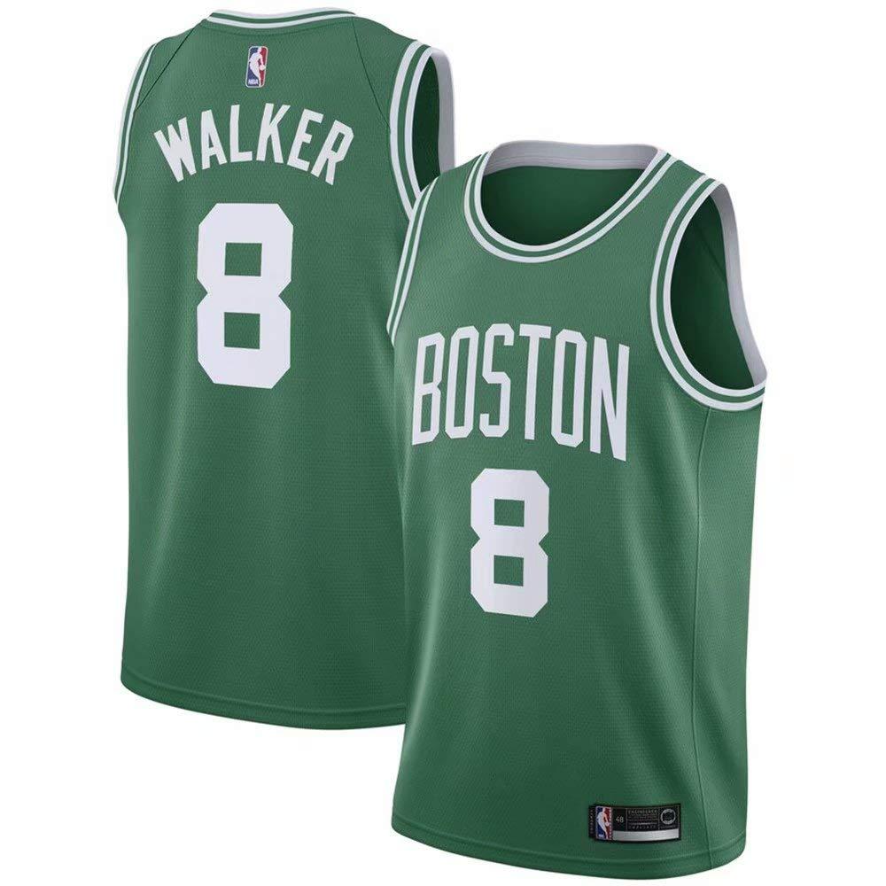 VF LSG Mens Boston Celtics #8 Kemba Walker Green Swingman Jersey