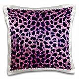 3dRose Purple Cheetah Animal Print Pillow Case, 16 x 16''