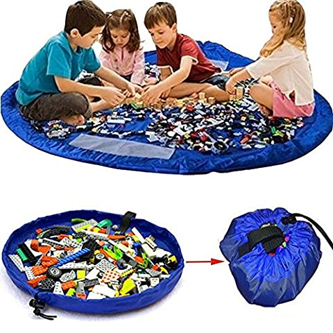Parit 150cm Bags ฺBlue Play Mat For Toys Rug Box Kids Lego Organizer Baby Children Portable - Case Front End Loaders