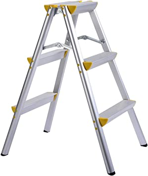 3 paso escalera luz peso plegable plataforma escaleras: Amazon.es: Bricolaje y herramientas