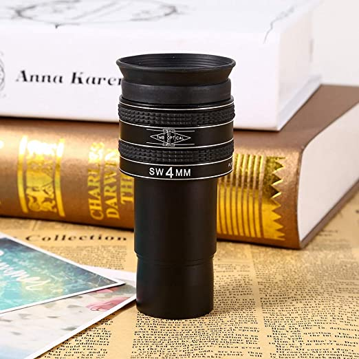 Delaman Planetary Eyepiece Fold-Down Black 4mm 1.25 58 Degree Planetary Observation Deep Sky Objects Eyepiece for Telescope JS
