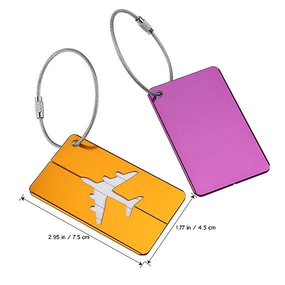 Pixnor Metal Travel Gepäck Gepäck Etiketten Koffer ID Tags Etiketten ...