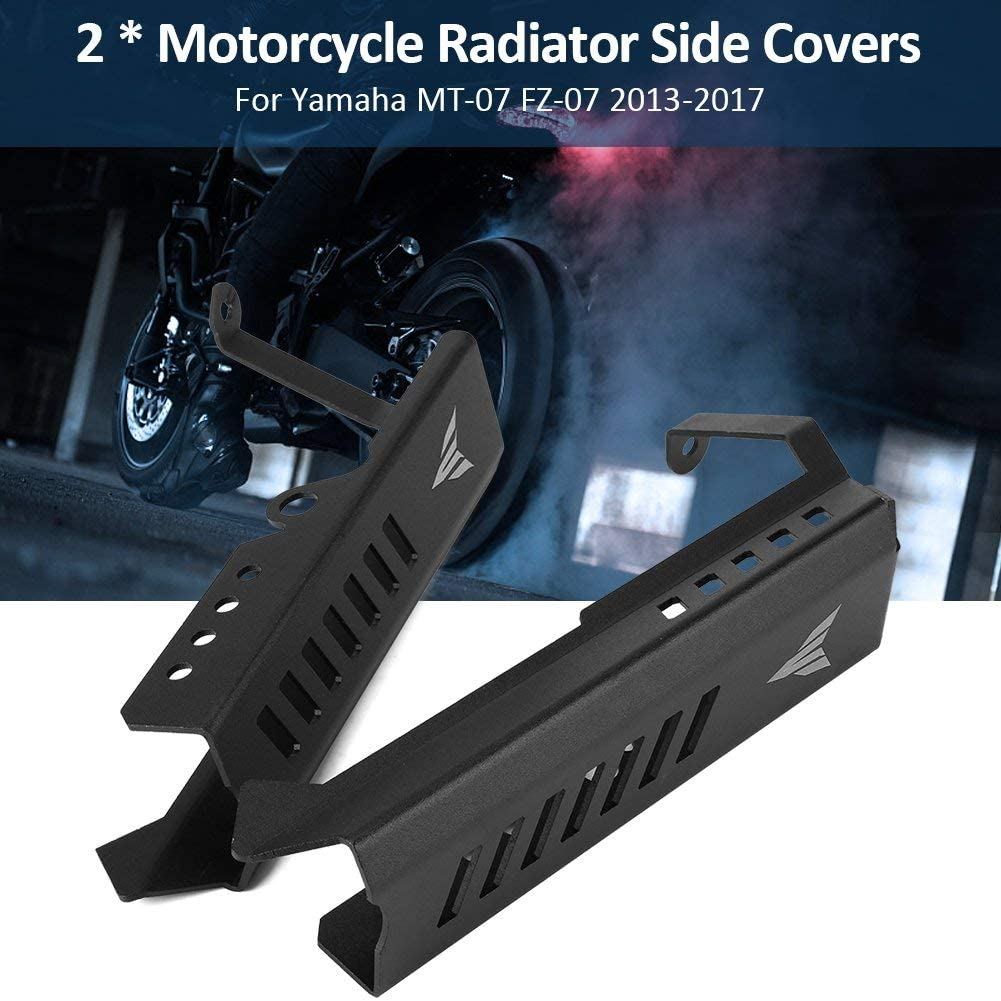 ACAMPTAR Pair MT09 2013-2016 //for FZ09 2013-2016 Radiator Grille Guard Water Cooler Guard Radiator Cover Protector Matte Black Side Cover Included