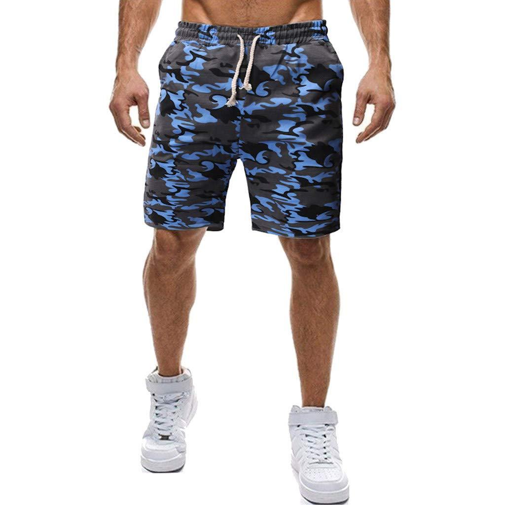 KEEYSUN Mens Sport Shorts Pocket Casual Sweatpants Drawstring Elastic Gym Pants