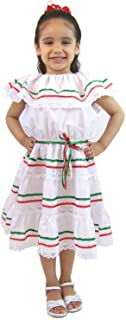 Leos Apparel Girls Mexican Dress 3 Ribbons  sc 1 st  Amazon.com & Amazon.com: Ethnic Ribbons Dress Red Blue and White Cuban Domincan ...