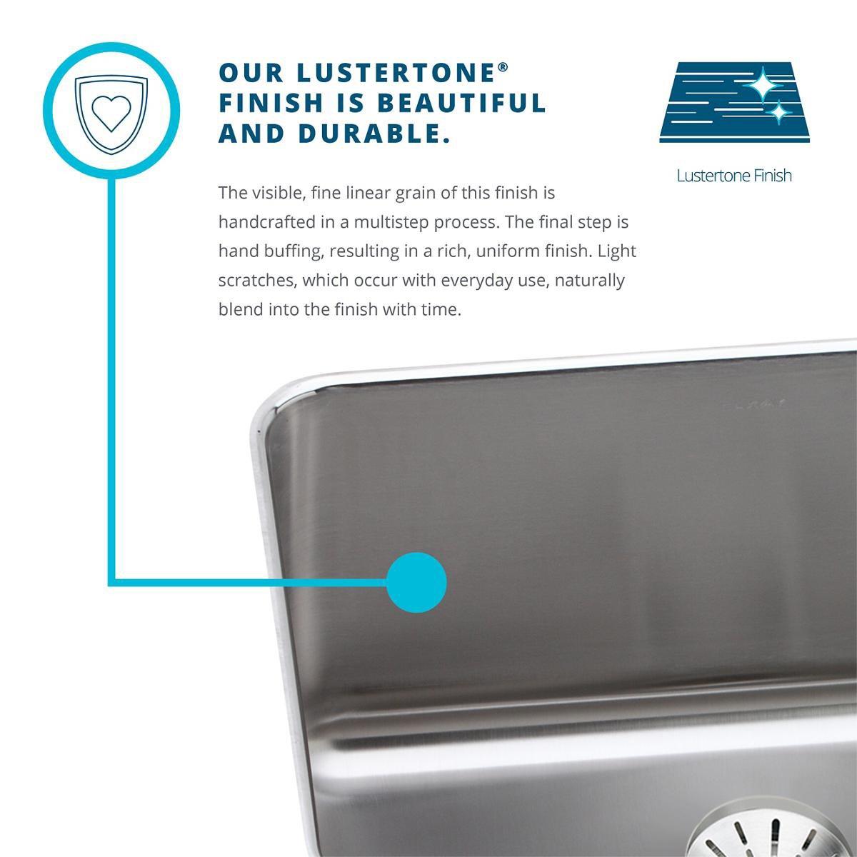 Elkay Lustertone Classic LRAD3321603 Equal Double Bowl Drop-In Stainless Steel ADA Sink