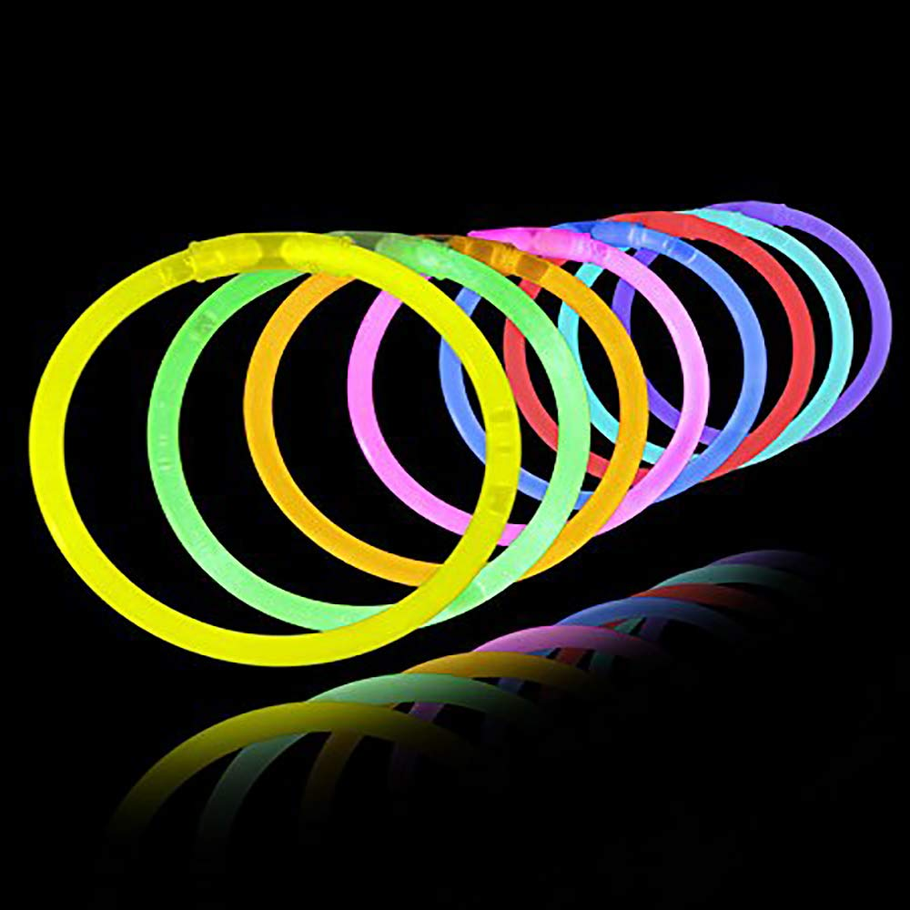 Lumistick 8 Inch 3000 Pack Glow Sticks - Bendable Glow Sticks with Necklace and Bracelet Connectors - Glowstick Bundle Party Bracelets (3000, Assorted) by Lumistick (Image #1)