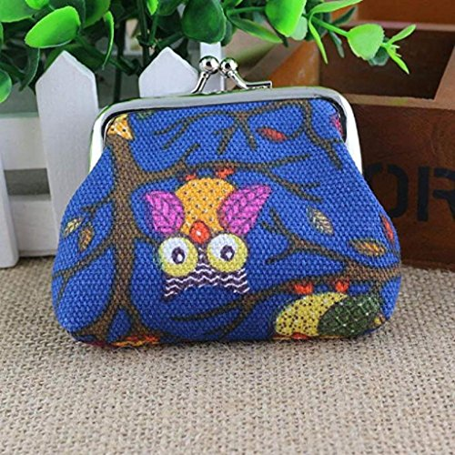 Handbags Fashion Pockets Blue Coin Wallet Clearance Dark Small Bags Vintage Hasp Clutch Purse 2018 Women Lovely Noopvan Wallet Style Owl STtgvqq