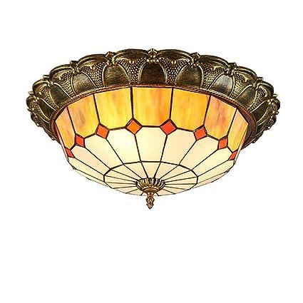 Amazon.com: Lámpara de techo, estilo Tiffany LED lámpara ...