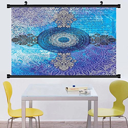 Gzhihine Wall Scroll Asian Mandala Decor ndian Batik Hippie