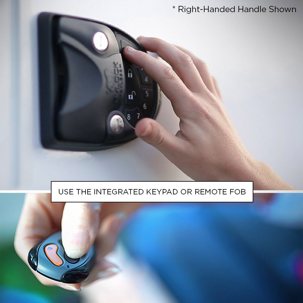 RVLock V4 Left Hand Keyless Handle w//Integrated Keypad /& Fob