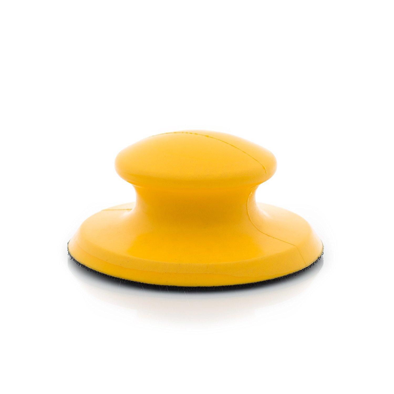 Glass Polish GP15907 Hook and Loop Hand Sanding Block Sanding Pad//Diameter 5 inch