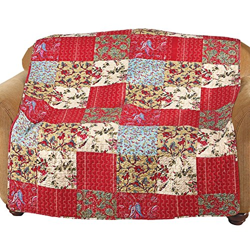 Maywood Accent - Maywood Floral Patchwork Quilted Throw