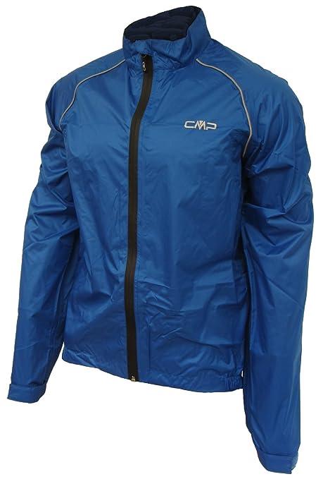 Campagnolo bicicleta chaqueta impermeable de los hombres, color azul, tamaño small