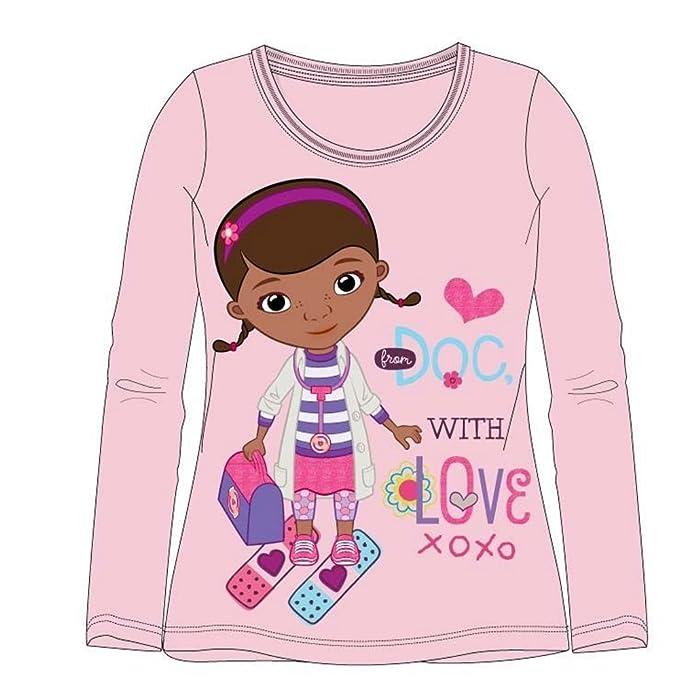 Disney Doctora Juguetes Chicas Camiseta mangas largas - Rosa - 92: Amazon.es: Ropa y accesorios