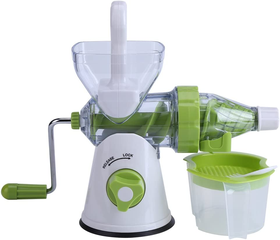 Kitchen Juicer, Manual Hand Crank Juicer, Juicer Machine, easy to clean Plastic for Home Kitchen travel