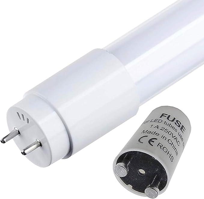 Pack 10x Tubo LED 120 cm, 18w. Color Blanco Frio (6500K). 360 grados. 1800 Lumenes. Cebador LED incluido. A++