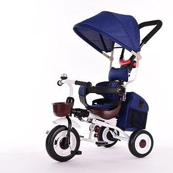 QXMEI Bicicleta Triciclo para Niños 1-3-5 Años De Edad Bebé Cochecito Infantil Ligero Paraguas Plegable,Blue: Amazon.es: Hogar