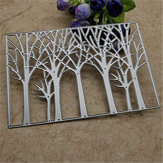 Tree* BYyushop Cutting Dies for Christmas Greeting Cards Making,Tree Cutting Die Greeting Card Background Scrapbooking Embossing Stencil Mold