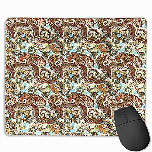 Paisley Anime Mouse pad Persian Teardrop with a Curved Tip Motif in a Colorful Eastern Culture Pattern Custom Mouse pad 11.8