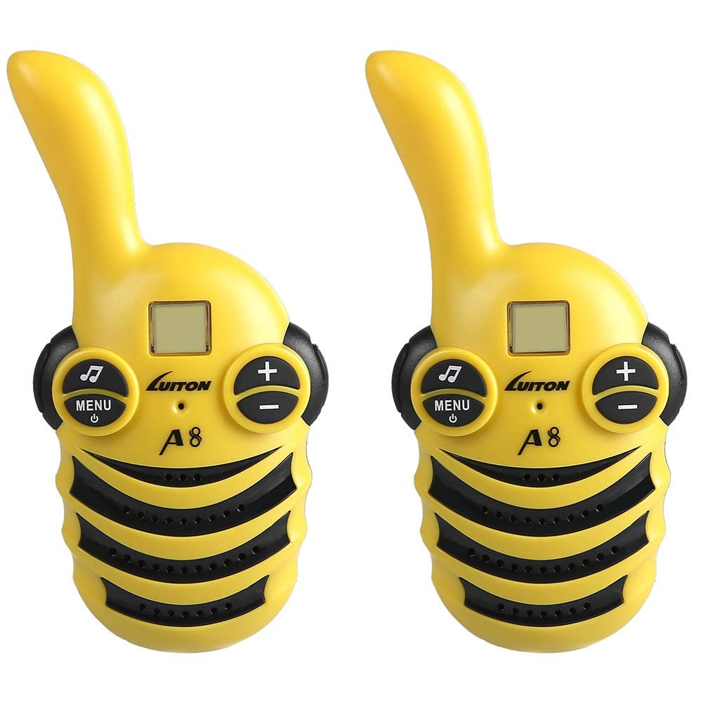 STOTOY Walkie Talkies for Kids, GALT-A8 22 Channel Walkie Talkies 2 Way Radio Miles FRS/GMRS Handheld Mini Walkie Talkies for Kids (Yellow)