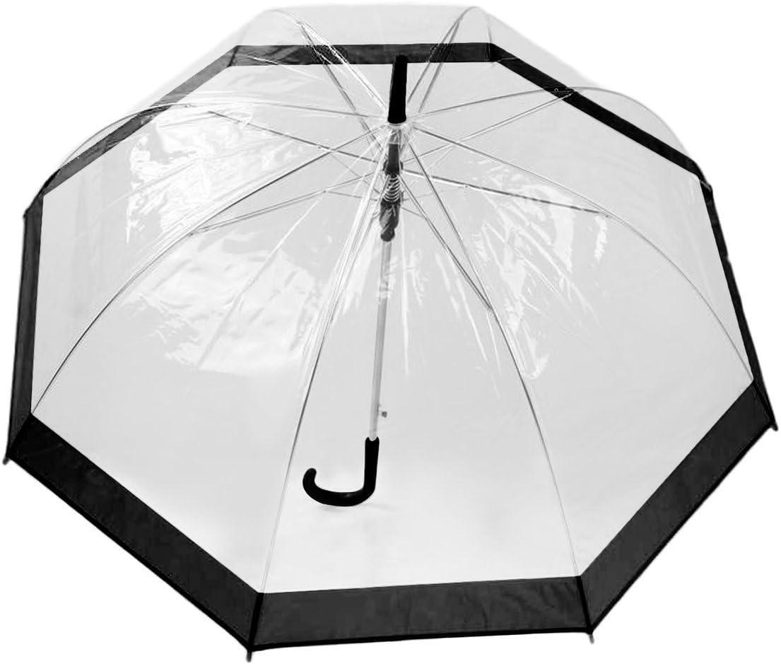 Tree-on-Life Ombrello in plastica Trasparente Bella Pioggia Soleggiato da Donna da Donna Manico Lungo Birdcage Dome Vedi Attraverso Gli ombrelli